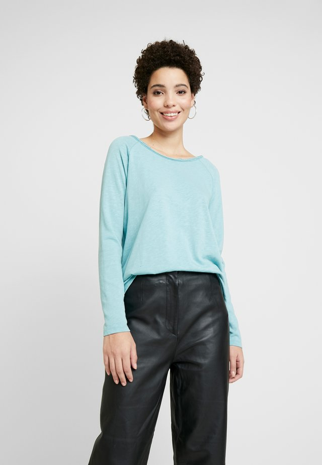 ESSENTIAL HEAVY SLUB - Long sleeved top - cameo blue