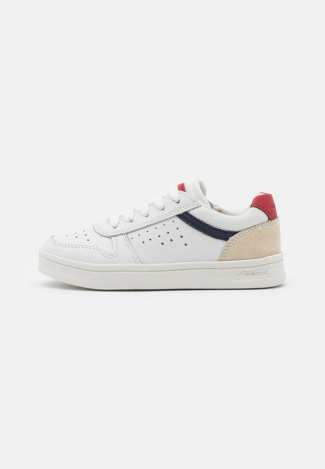 DJROCK BOY - Sneakers basse - white/red
