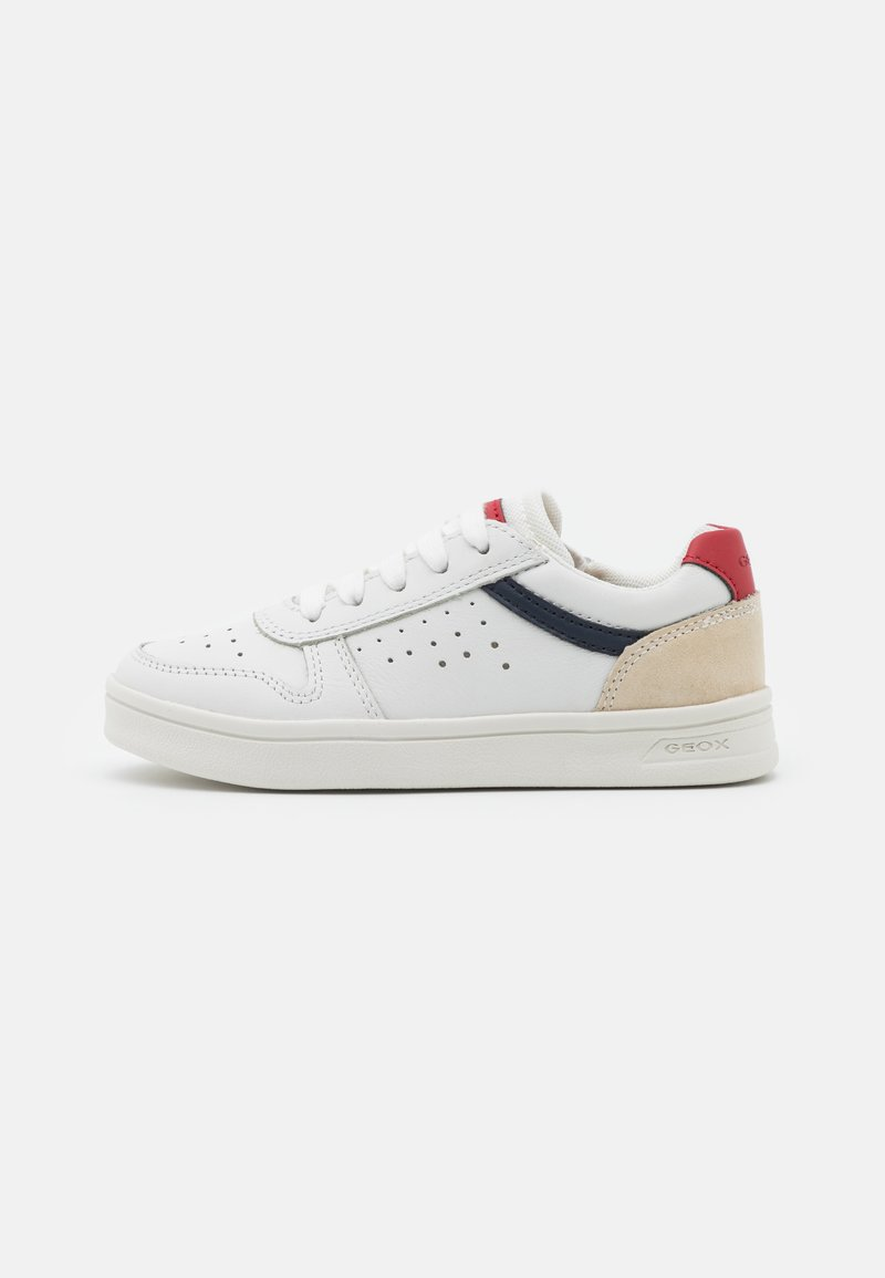 Geox - DJROCK BOY - Sneakers laag - white/red