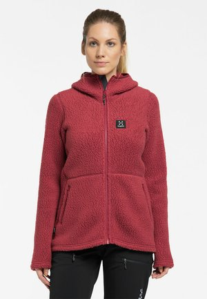 PILE HOOD  - Fleecejacke - brick red