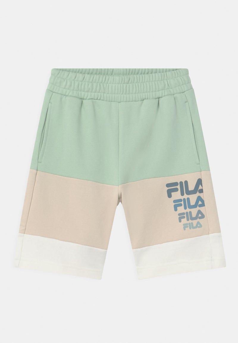 Fila - PADDY BLOCKED  - Shorts - silt green/rainy day/snow white