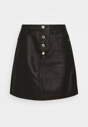 BUTTON FLY SKIRT - A-line skirt - black