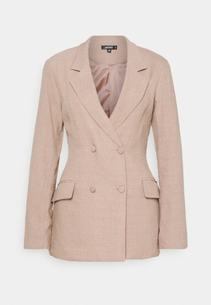TEXTURED DOUBLE BREASTED - Short coat - pink