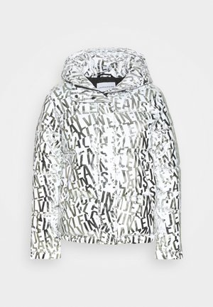 LOGO PUFFER - Giacca invernale - silver