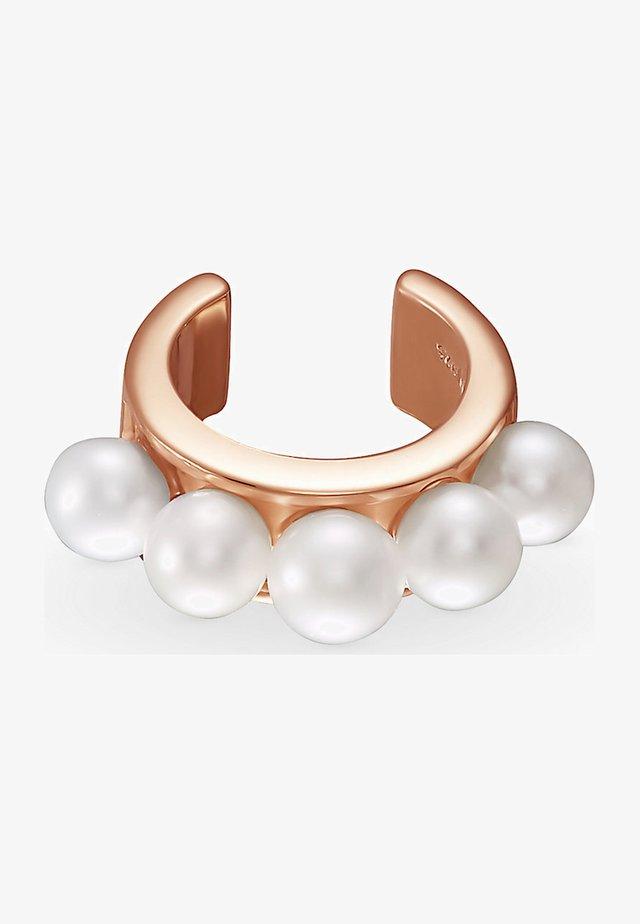 DAMEN-EINZELNER OHRSCHMUCK EAR CUFF 925ER SILBER 5 PERLE - Earrings - roségold
