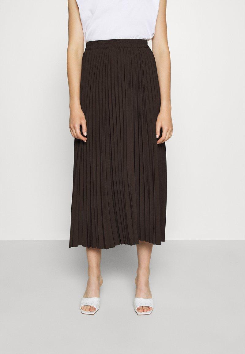 Selected Femme - SLFALEXIS SKIRT - A-line skirt - coffee bean
