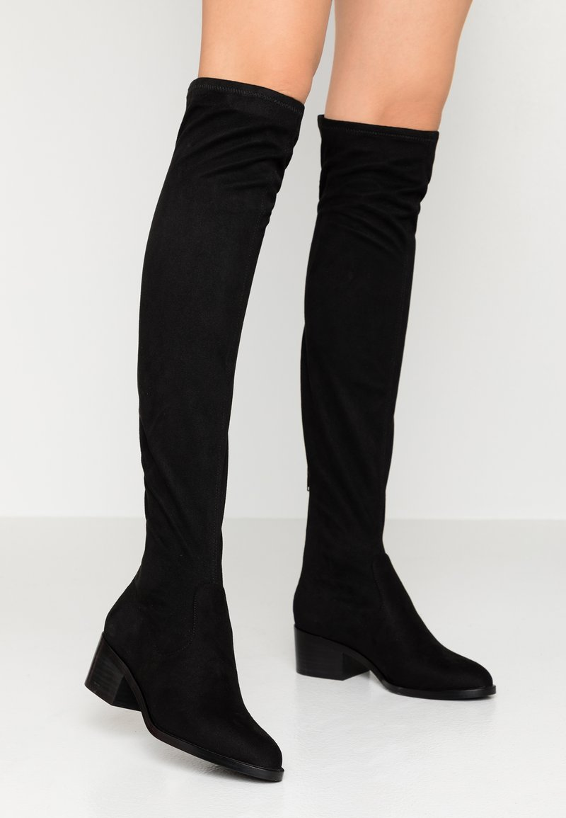 Steve Madden - GEORGETTE - Over-the-knee boots - black