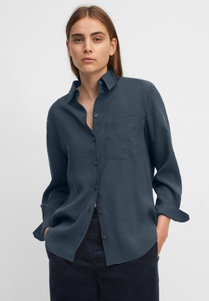 Button-down blouse - breezy sea