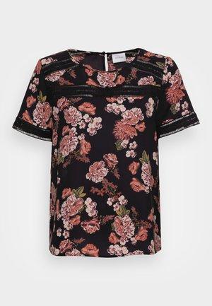 VISURASHA LACE  - Print T-shirt - black delicate femme