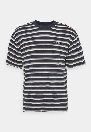 QUARTER UNISEX - T-shirt imprimé - dark blue/grey