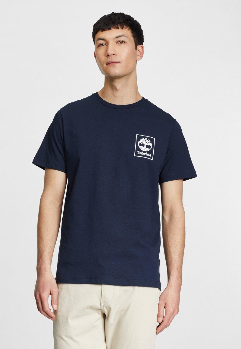 Timberland - Print T-shirt - dark sapphirewhite