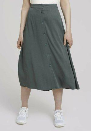 A-line skirt - dusty pine green