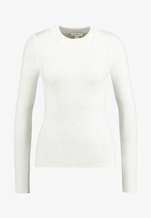 BASIC DETAIL CREW - Sweter - ivory