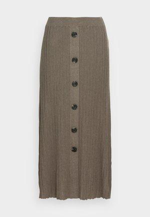ANI - Maxi skirt - morel melange