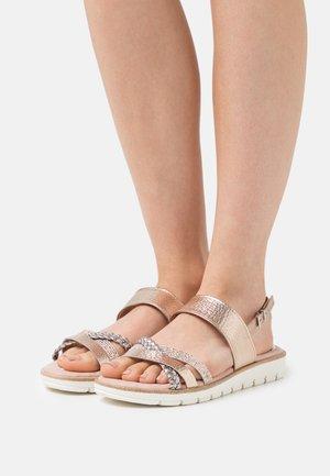 Sandals - rose metallic