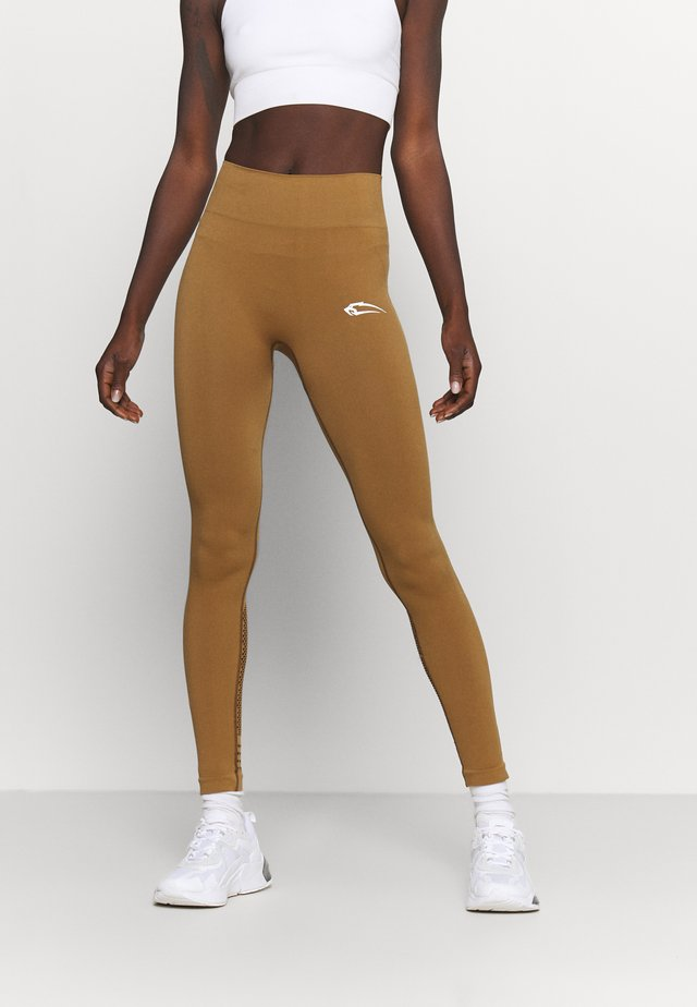 HIGH WAIST LEGGINGS AIRLESS - Leggings - braun