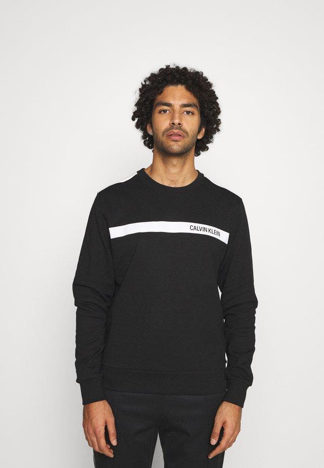 BOLD STRIPE LOGO  - Sweatshirt - black