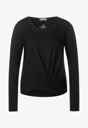 MIT KNOTENDETAIL - Long sleeved top - schwarz