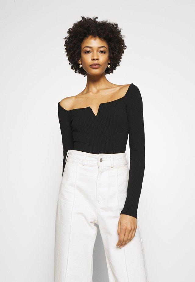 KALI - T-shirt à manches longues - jet black