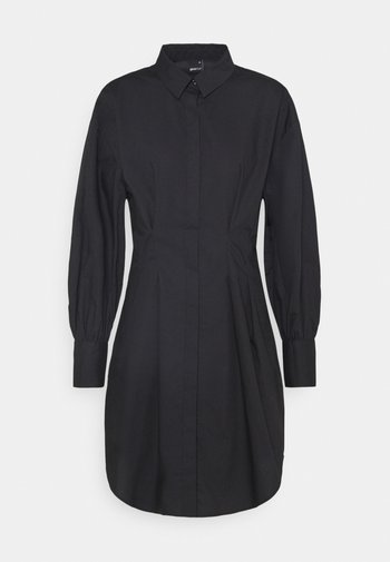 ANNA DRESS - Skjortekjole - black