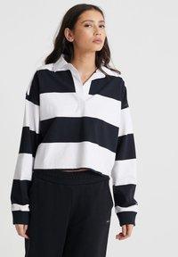 SUPERDRY ORGANIC COTTON EDIT RUGBY TOP - Polo shirt - mono stripe