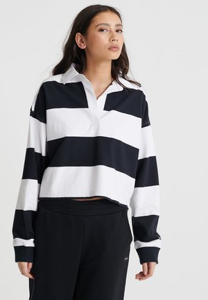SUPERDRY ORGANIC COTTON EDIT RUGBY TOP - Polo - mono stripe