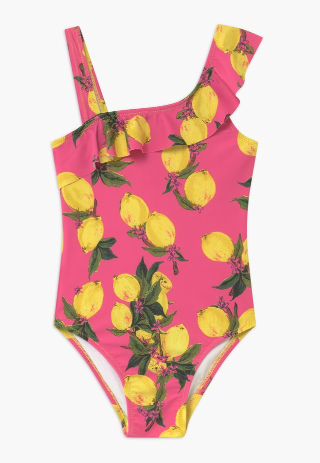 GIRLS SWIMSUIT - Uimapuku - pink/yellow