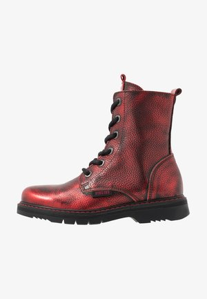 DORY - Lace-up ankle boots - dark red