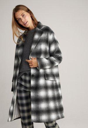 Classic coat - schwarz gemustert