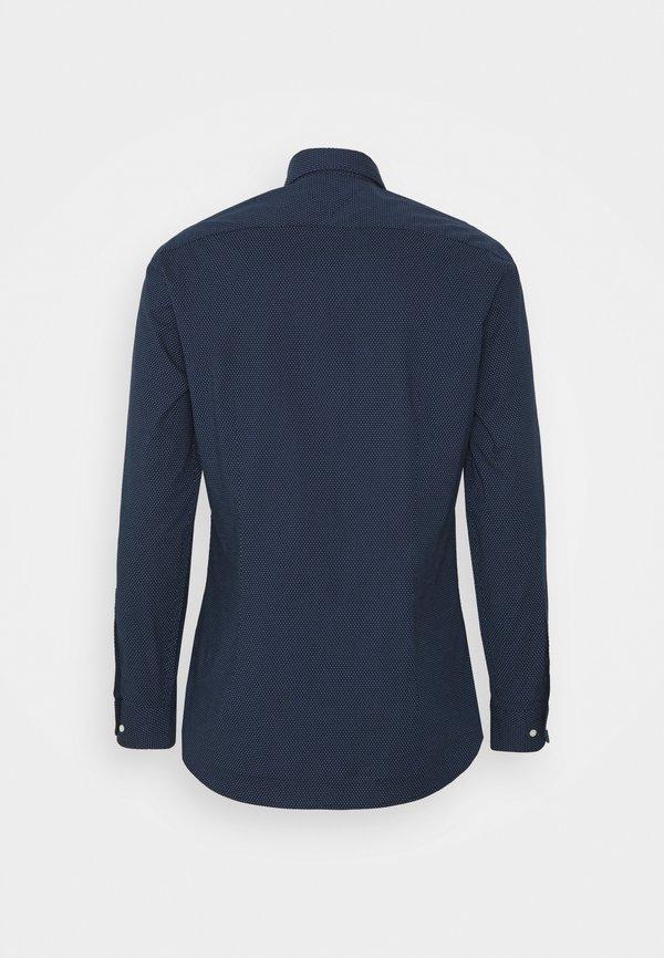 Tommy Hilfiger FLEX MINI DOT SLIM SHIRT - Koszula - navy/ white/granatowy Odzież Męska CTCS