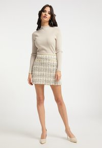 faina - TWEED - A-line skirt - champagner - 1