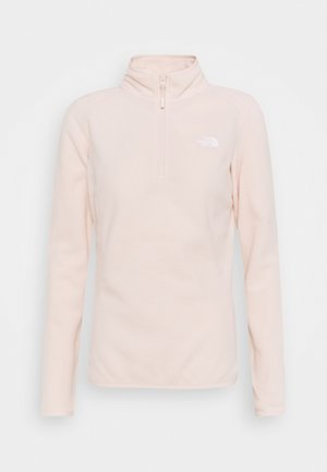 WOMEN'S GLACIER 1/4 ZIP - Fleecová mikina - morning pink