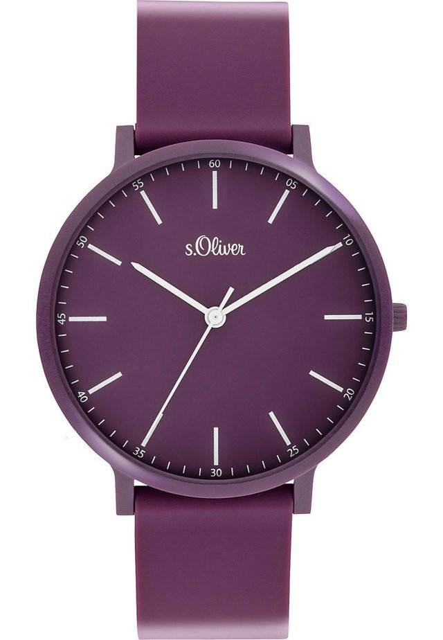 S.OLIVER UNISEX-UHREN ANALOG QUARZ - Watch - lila