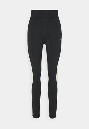 RUN HIGH RISE 7/8 - Tights - black/fizzy yellow
