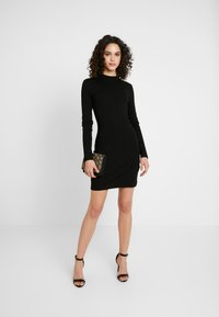 Even&Odd - BASIC - Žerzejové šaty - black - 2