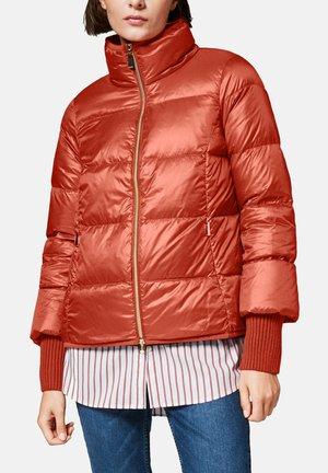 MIT RIPPBÜNDCHEN - Down jacket - dark red