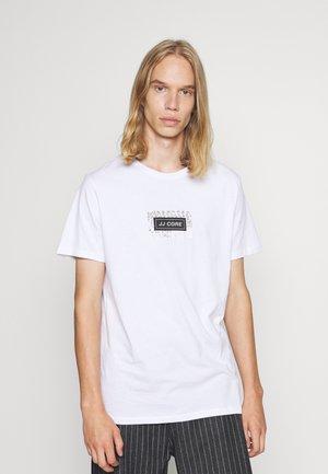 JCOLEAF TEE CREW NECK - Print T-shirt - white