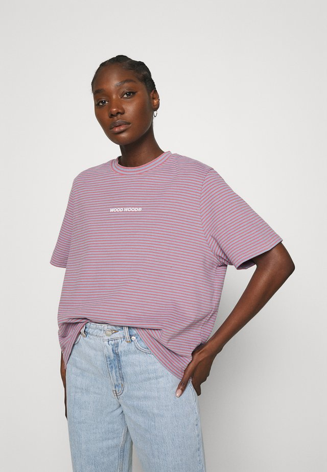 ALMA HEAVY - Printtipaita - rose stripes