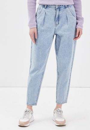 MIT ABNÄHERN - Slim fit jeans - denim double stone