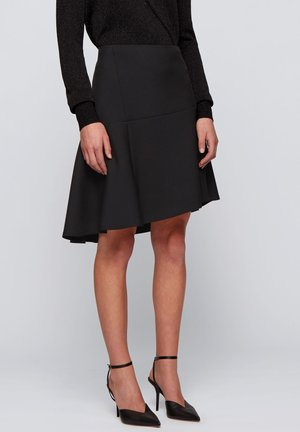 VASTY - Pleated skirt - black