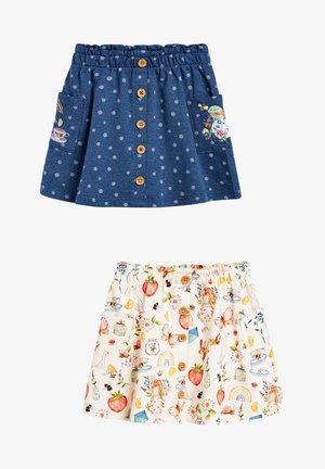 2 PACK - A-line skirt - blue denim