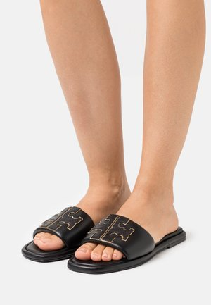 DOUBLE T SPORT SLIDE - Pantofle - perfect black/gold