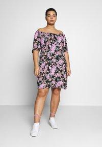 Fashion Union Plus - ROSE DRESS - Day dress - black - 0