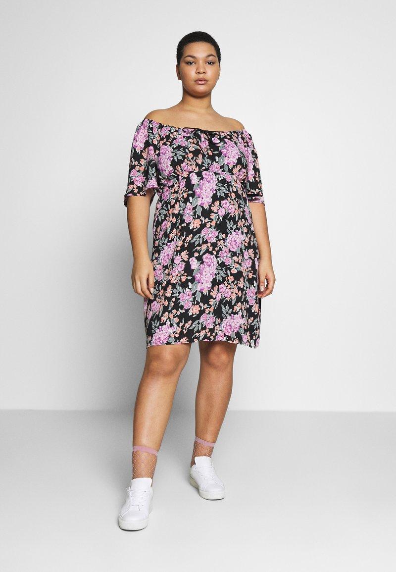 Fashion Union Plus - ROSE DRESS - Day dress - black
