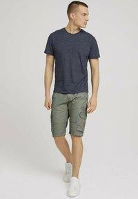 TOM TAILOR - Basic T-shirt - sailor blue grindle melange - 1