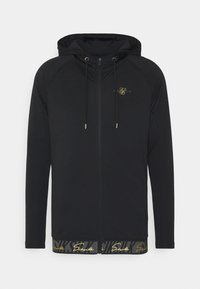 SIKSILK - SCOPE TAPE ZIP THROUGH HOODIE - Felpa aperta - black - 3