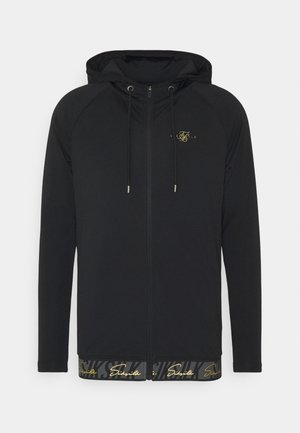 SCOPE TAPE ZIP THROUGH HOODIE - Felpa aperta - black