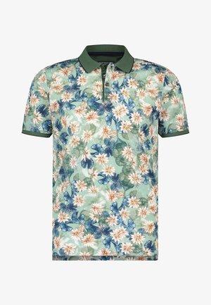 Poloshirt - dark green/pink
