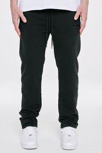 Pegador - LOGO WIDE PANTS UNISEX - Teplákové kalhoty - black - 1