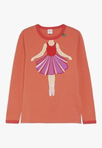 Fred's World by GREEN COTTON - HELLO BALLET  - Langærmede T-shirts - warm coral - 0